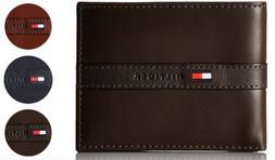 Tommy Hilfiger Men's Premium Leather Credit Card ID Wallet B