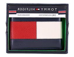 Tommy Hilfiger Men's Premium Leather Double Billfold Passcas