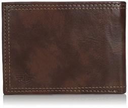 Dockers Men's RFID Blocking Extra Capacity Leather Bifold Wa