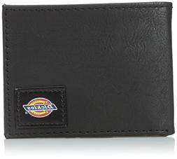 Dickies Men's Slim Fold Wallet with Patch Logo, Grey, One Si