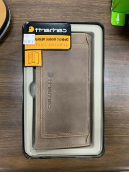 Carhartt Men's Top Grain Leather Rodeo Wallet, Contrasting S