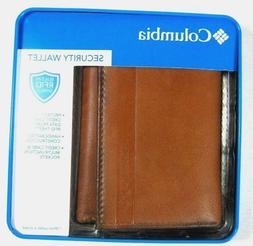 men s trifold security rfid blocking wallet