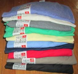 Men's V Neck T-Shirt 3XL Hanes 6 Pc 6 Color100% cotton 50/50