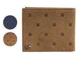 Tommy Hilfiger Men's Vintage Leather Credit Card Passcase Rf