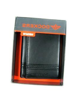 Dockers Men's Wallet Trifold 31DP110017 New NIB Black Handcr
