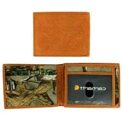 Carhartt Men's Woodsville Bifold Leather Traveler Wallet CH-