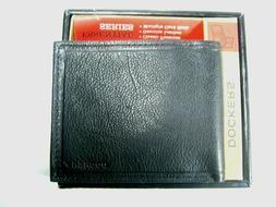 Dockers Mens Bifold Leather Wallet 31DK2208 Black New NIB