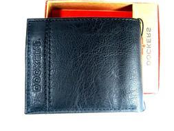 Dockers Mens  Bifold Leather Wallet 31DP220003 Black New NIB