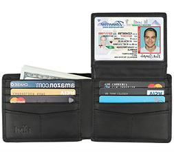 mens bifold wallet leather soft stylish rfid