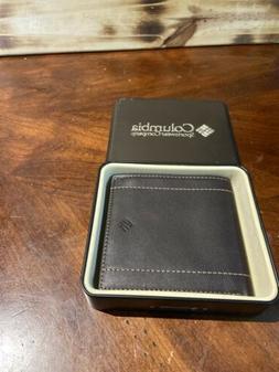 Mens Columbia Dark Brown Bi Fold Wallet