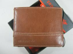 Dockers Mens Handcrafted Front Pocket Bifold Wallet Brown