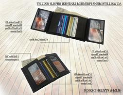 AG Wallets Mens Leather Bifold Slim Wallet Multi Card Cash A