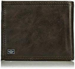 Dockers Mens Leather RFID Extra Capacity Slim Bifold Wallet