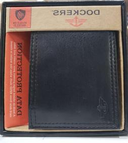 Dockers Mens RFID Blocking Extra Capacity Leather Bifold Wal