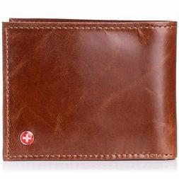 Alpine Swiss Mens RFID Blocking Leather Wallet Multi Card Hi