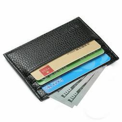 Mens Slim Leather Wallet Card Holder Front Pocket Wallets Cr
