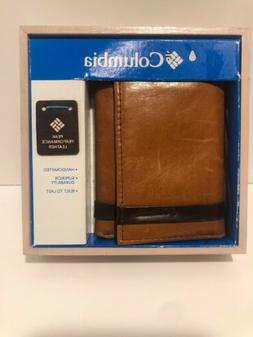 COLUMBIA Mens Tan Leather Wallet / TRIFOLD / HANDCRAFTED