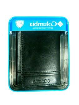 Columbia Mens Trifold Security RFID Blocking Wallet Black 31