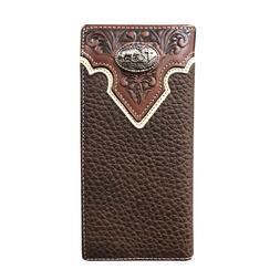 Mens Western Cowboy Wallet Genuine Leather Wallet Long Bifol