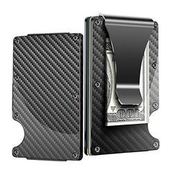 Minimalist Carbon Fiber Wallet,Slim Wallet & RFID Blocking F