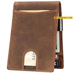 Lavemi Money Clip Wallet For Men Slim Front Pocket Rfid Bloc