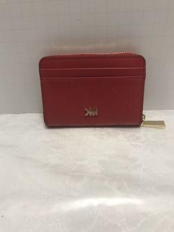 MICHAEL KORS MONEY PIECES BRIGHT RED ZA COIN CARD CASE LEATH