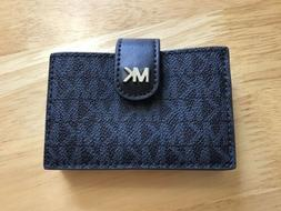 Michael Kors Money Pieces Card Case Accordion Admiral Blue M