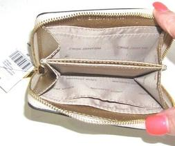 Michael Kors Money Pieces Card Case Pale Gold Metallic Zip A