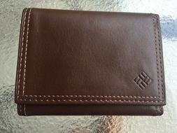 NEW Columbia GENUINE BROWN LEATHER SMALL MEN'S WALLET