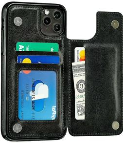 New iPhone 11 / Pro / Max Case Cover Leather Magnetic Wallet