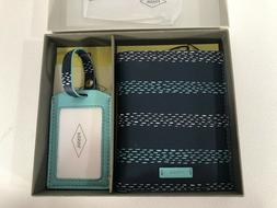 New FOSSIL Keely Passport Holder/Wallet & Luggage Tag Set