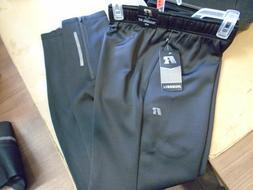NEW Mens Russell Athletics Black Knit Training Slim Fit Zip