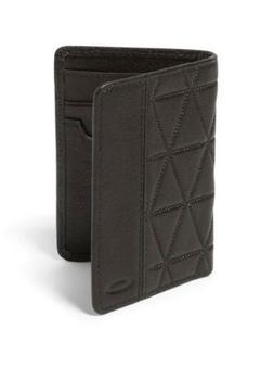 New Mens Oakley Slim Leather Wallet Earth Brown NWT $80 Reta
