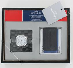 New Dockers Money Clip & Desk Clock  with Valet
