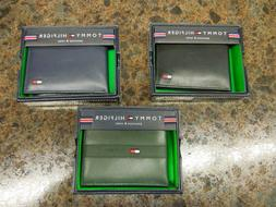 NEW W/DEFECTS- MEN'S TOMMY HILFIGER LEATHER WALLETS, ASST ST