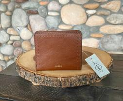 New with Tags, Fossil Logan RFID Small Bifold in Tan