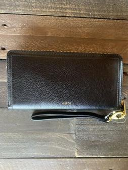 New with Tags, Fossil Logan RFID ZIP Around Clutch Wallet In