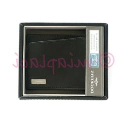 NIB Dockers Men's Leather Slimfold Bifold Wallet with Inte