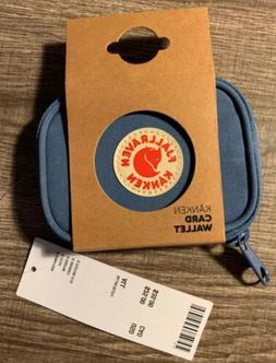 NWT Authentic Fjallraven Kanken Card Wallet- Blue