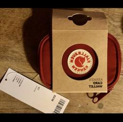 NWT Authentic Fjallraven Kanken Card Wallet- Ox Red