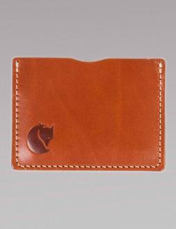 Fjallraven Ovik Card Holder - Cognac Leather