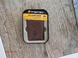 CARHARTT PEBBLE BROWN MONEY CLIP IN BOX