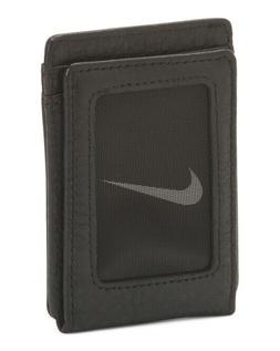 Nike Pebble Leather Wallet Magnetic Closure NIB brand logo a