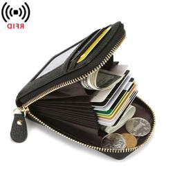 Real Leather Slim Wallet For Men with Money Clip Carbon Fibe