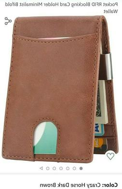 Lavemi RFID Blocking  Bifold Wallet with Money clip Leather.