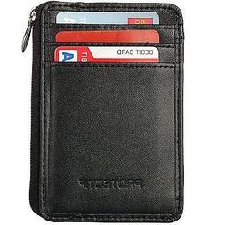 Rfid Blocking Sleeves Front Pocket Wallet for Men, Secure Cr