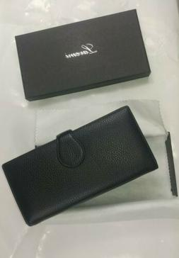 Lavemi RFID Real Leather Trifold Wallet  Phone Holder Clutch