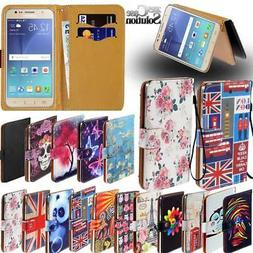 For Samsung Galaxy On5 On6 On7 On8 - Leather Wallet Card Sta