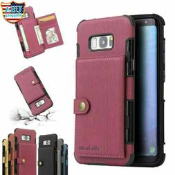 For Galaxy S10 E S20 Ultra S9 S8 Plus NOTE 10 9 8 Leather Ca