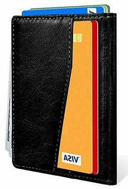 Slim Bifold Wallet,Bulliant Leather Minial Wallet For Men Sm